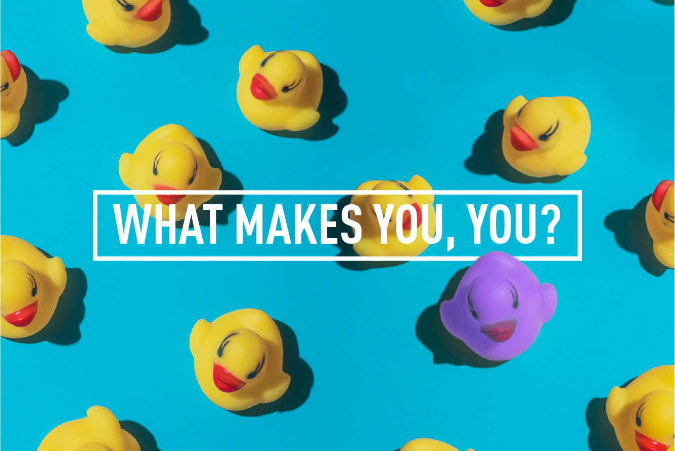 WHAT MAKES YOU, YOU?  </br>WORKSHOP : WED 20TH SEP