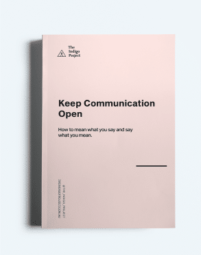 Keep Communication Open Workbook