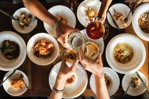 Celebrate brunch friends cheers